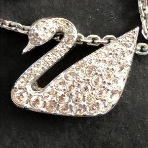 Authentic iconic Swarovski swan necklace